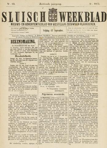 Sluisch Weekblad. Nieuws- en advertentieblad voor Westelijk Zeeuwsch-Vlaanderen 1875-09-17