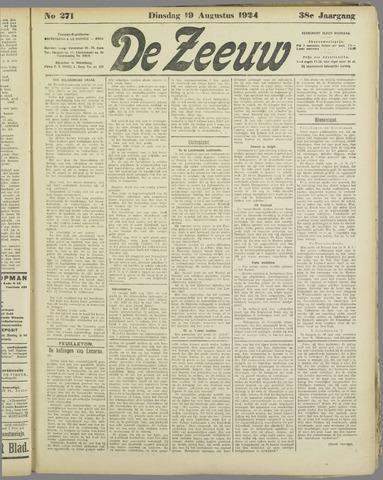 De Zeeuw. Christelijk-historisch nieuwsblad voor Zeeland 1924-08-19