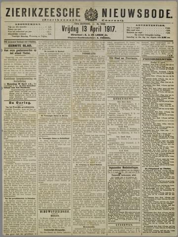 Zierikzeesche Nieuwsbode 1917-04-13