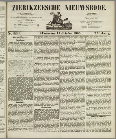 Zierikzeesche Nieuwsbode 1865-10-11
