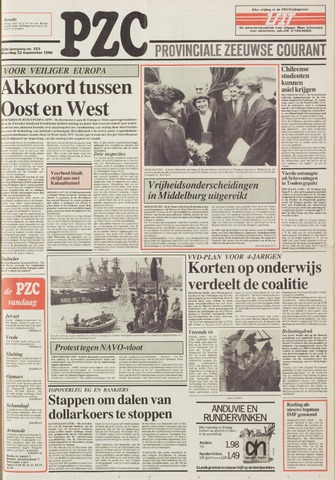 Provinciale Zeeuwse Courant 1986-09-22