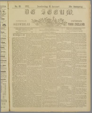 De Zeeuw. Christelijk-historisch nieuwsblad voor Zeeland 1912-01-11