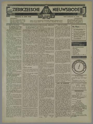 Zierikzeesche Nieuwsbode 1940-06-21