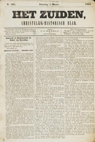 Het Zuiden, Christelijk-historisch blad 1880-03-02