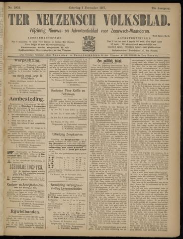Ter Neuzensch Volksblad. Vrijzinnig nieuws- en advertentieblad voor Zeeuwsch- Vlaanderen / Zeeuwsch Nieuwsblad. Nieuws- en advertentieblad voor Zeeland 1917-12-01