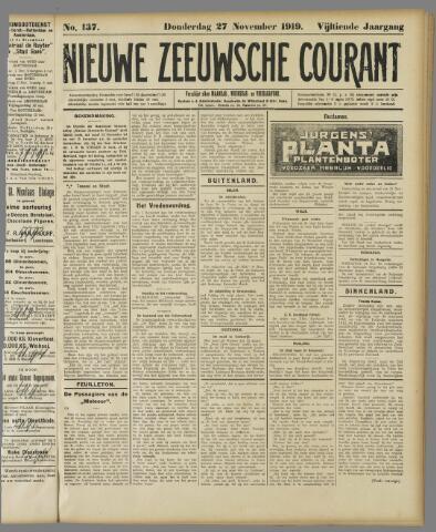 Nieuwe Zeeuwsche Courant 1919-11-27