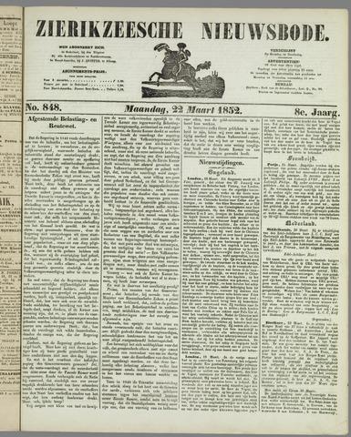 Zierikzeesche Nieuwsbode 1852-03-22