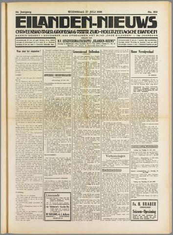Eilanden-nieuws. Christelijk streekblad op gereformeerde grondslag 1938-07-27