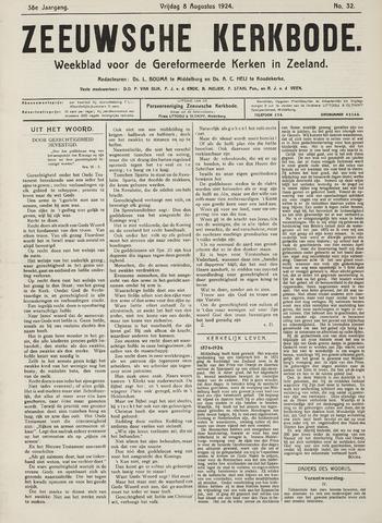Zeeuwsche kerkbode, weekblad gewijd aan de belangen der gereformeerde kerken/ Zeeuwsch kerkblad 1924-08-08
