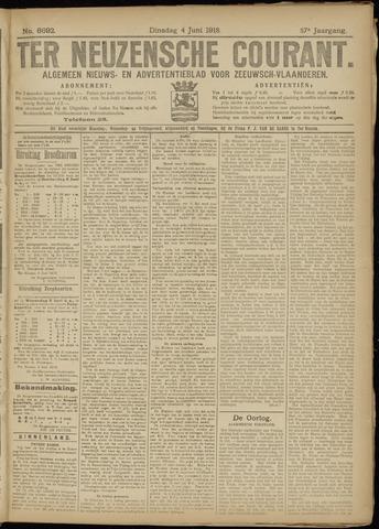 Ter Neuzensche Courant. Algemeen Nieuws- en Advertentieblad voor Zeeuwsch-Vlaanderen / Neuzensche Courant ... (idem) / (Algemeen) nieuws en advertentieblad voor Zeeuwsch-Vlaanderen 1918-06-04