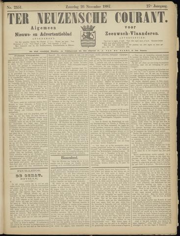 Ter Neuzensche Courant. Algemeen Nieuws- en Advertentieblad voor Zeeuwsch-Vlaanderen / Neuzensche Courant ... (idem) / (Algemeen) nieuws en advertentieblad voor Zeeuwsch-Vlaanderen 1887-11-26