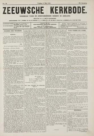 Zeeuwsche kerkbode, weekblad gewijd aan de belangen der gereformeerde kerken/ Zeeuwsch kerkblad 1935-05-17
