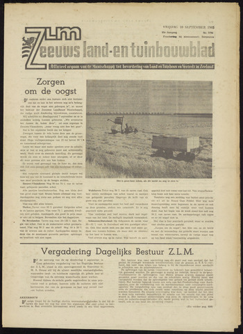 Zeeuwsch landbouwblad ... ZLM land- en tuinbouwblad 1965-09-10
