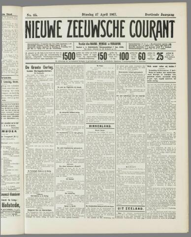 Nieuwe Zeeuwsche Courant 1917-04-17