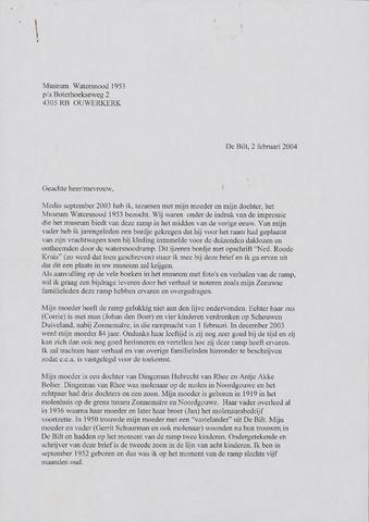 Watersnood documentatie 1953 - diversen 2004