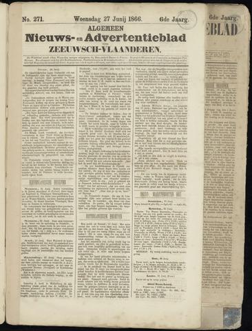 Ter Neuzensche Courant. Algemeen Nieuws- en Advertentieblad voor Zeeuwsch-Vlaanderen / Neuzensche Courant ... (idem) / (Algemeen) nieuws en advertentieblad voor Zeeuwsch-Vlaanderen 1866-06-27
