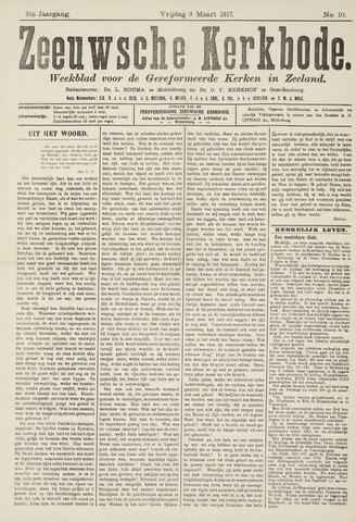 Zeeuwsche kerkbode, weekblad gewijd aan de belangen der gereformeerde kerken/ Zeeuwsch kerkblad 1917-03-09