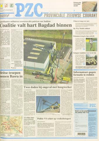 Provinciale Zeeuwse Courant 2003-04-08