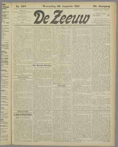 De Zeeuw. Christelijk-historisch nieuwsblad voor Zeeland 1917-08-29
