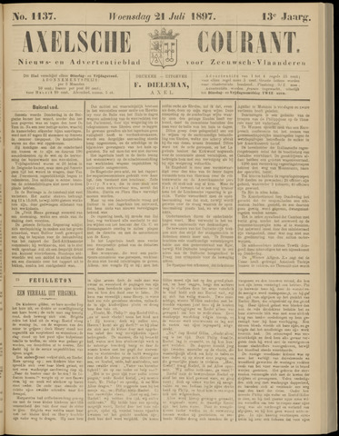 Axelsche Courant 1897-07-21