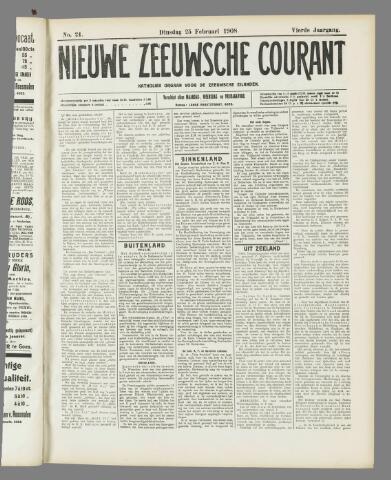 Nieuwe Zeeuwsche Courant 1908-02-25