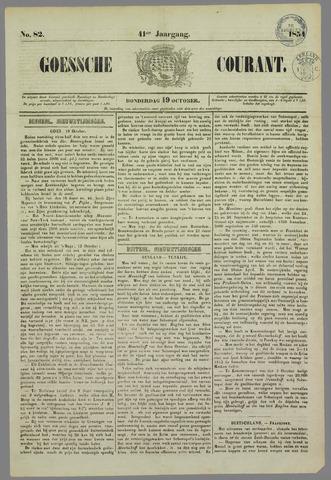 Goessche Courant 1854-10-19