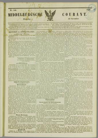 Middelburgsche Courant 1847-11-23