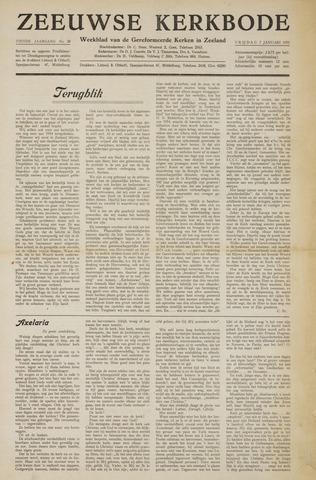 Zeeuwsche kerkbode, weekblad gewijd aan de belangen der gereformeerde kerken/ Zeeuwsch kerkblad 1955-01-07