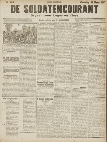 De Soldatencourant. Orgaan voor Leger en Vloot 1917-03-28
