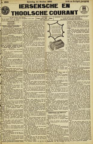 Ierseksche en Thoolsche Courant 1922-10-14