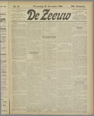 De Zeeuw. Christelijk-historisch nieuwsblad voor Zeeland 1915-11-17
