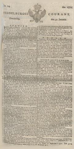 Middelburgsche Courant 1771-01-31