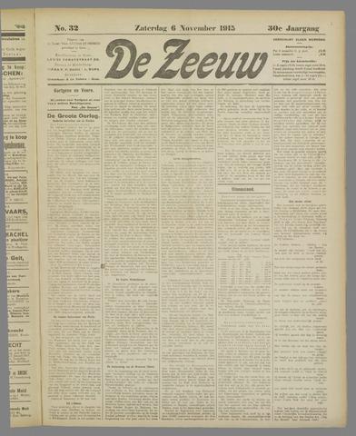 De Zeeuw. Christelijk-historisch nieuwsblad voor Zeeland 1915-11-06