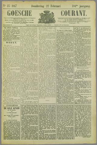 Goessche Courant 1917-02-22