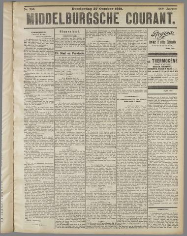 Middelburgsche Courant 1921-10-27