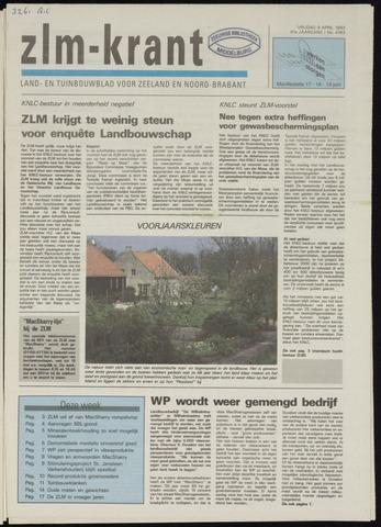 Zeeuwsch landbouwblad ... ZLM land- en tuinbouwblad 1993-04-09