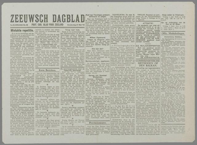 Zeeuwsch Dagblad 1945-05-31
