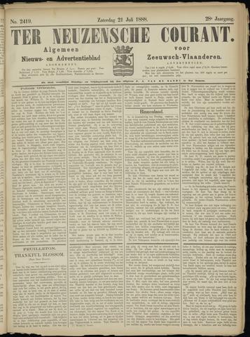 Ter Neuzensche Courant. Algemeen Nieuws- en Advertentieblad voor Zeeuwsch-Vlaanderen / Neuzensche Courant ... (idem) / (Algemeen) nieuws en advertentieblad voor Zeeuwsch-Vlaanderen 1888-07-21