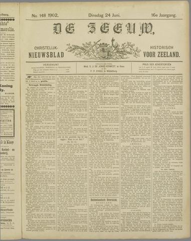 De Zeeuw. Christelijk-historisch nieuwsblad voor Zeeland 1902-06-24