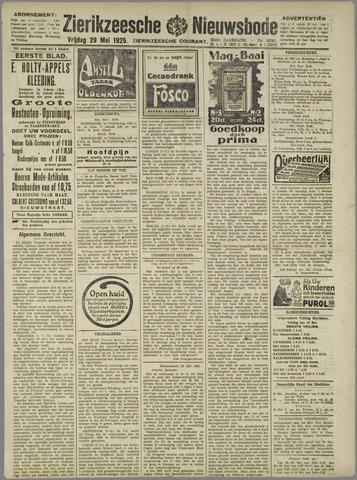 Zierikzeesche Nieuwsbode 1925-05-29