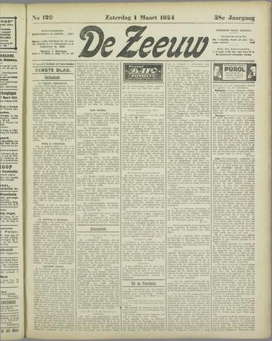 De Zeeuw. Christelijk-historisch nieuwsblad voor Zeeland 1924-03-01