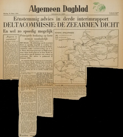 Watersnood documentatie 1953 - kranten 1954-03-26