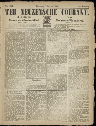 Ter Neuzensche Courant. Algemeen Nieuws- en Advertentieblad voor Zeeuwsch-Vlaanderen / Neuzensche Courant ... (idem) / (Algemeen) nieuws en advertentieblad voor Zeeuwsch-Vlaanderen 1884-02-06