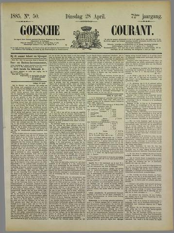 Goessche Courant 1885-04-28