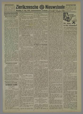 Zierikzeesche Nieuwsbode 1933-08-21