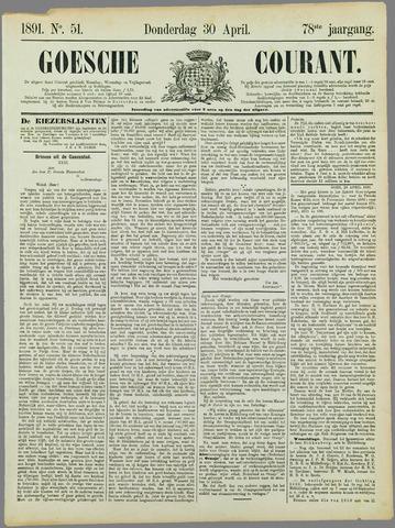 Goessche Courant 1891-04-30