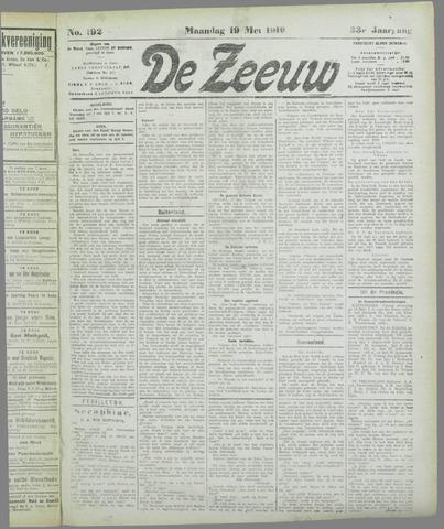 De Zeeuw. Christelijk-historisch nieuwsblad voor Zeeland 1919-05-19