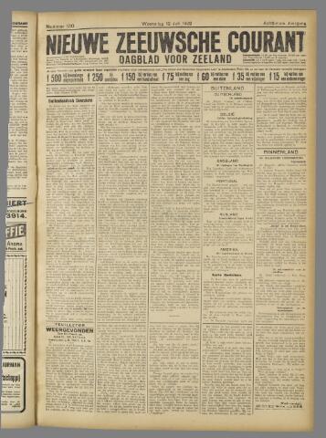 Nieuwe Zeeuwsche Courant 1922-07-12