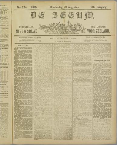 De Zeeuw. Christelijk-historisch nieuwsblad voor Zeeland 1906-08-23