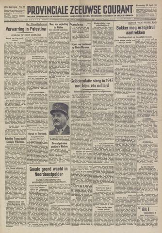 Provinciale Zeeuwse Courant 1948-04-28
